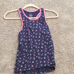 Navy blue and pink tank top